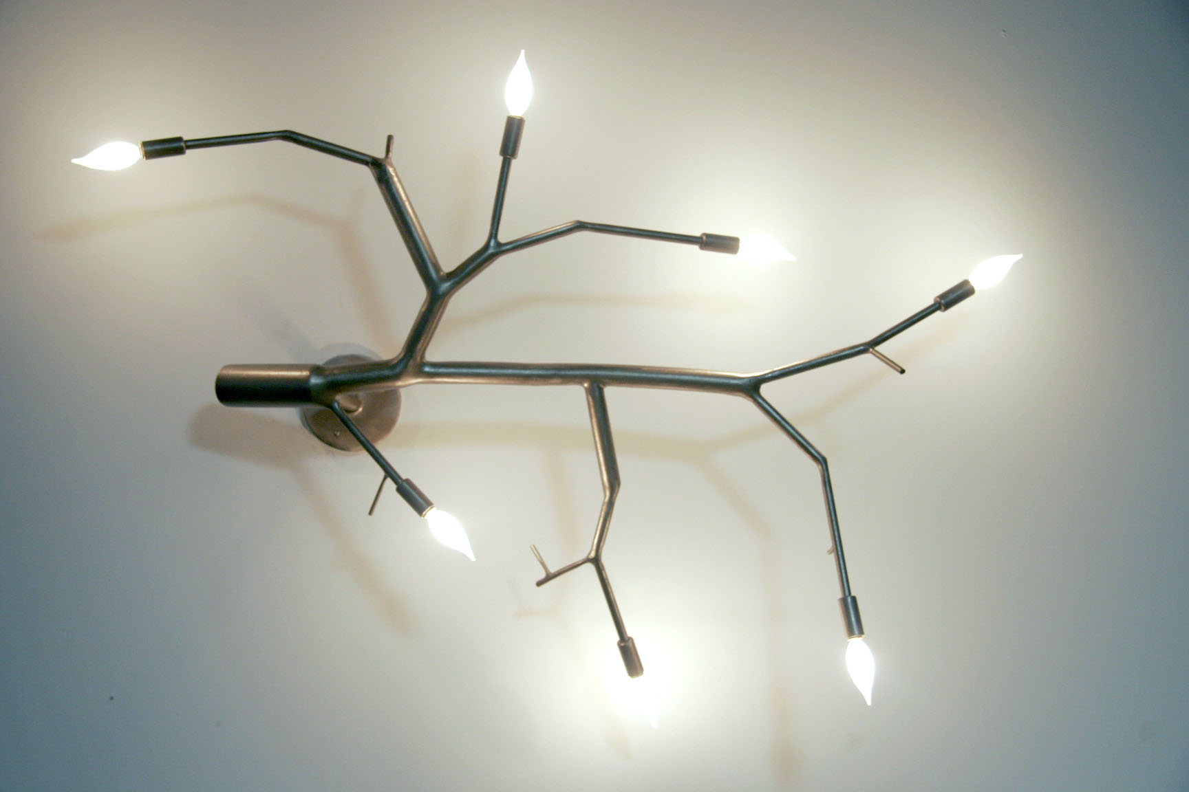 Chris poehlmann contemporary metal branch lighting - Tree branch ceiling light ...